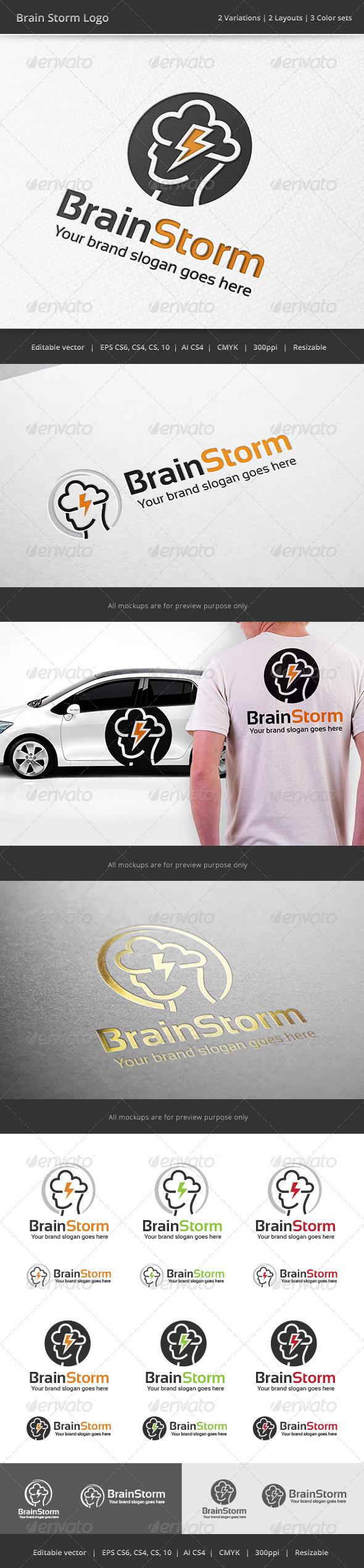 GraphicRiver Brain Storm Logo 7721660