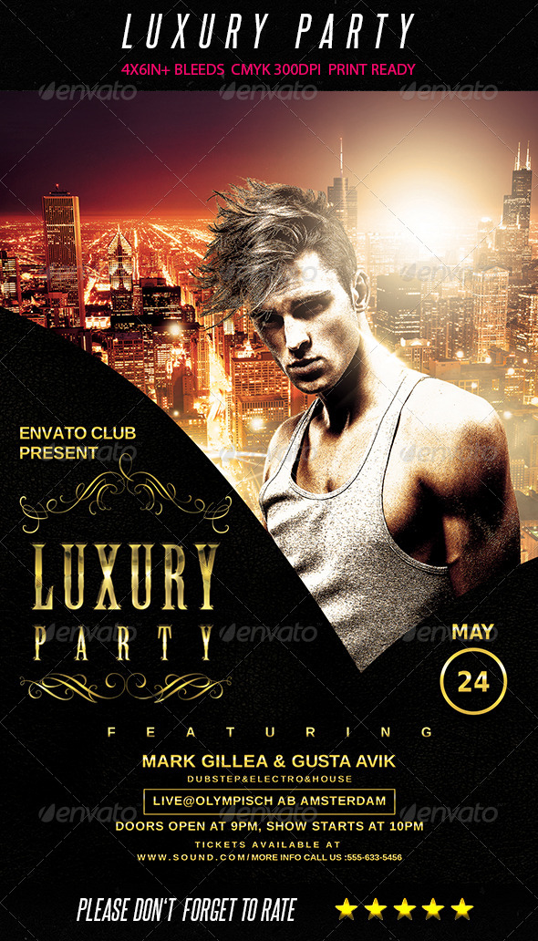 GraphicRiver Luxury Party Flyer 7695923