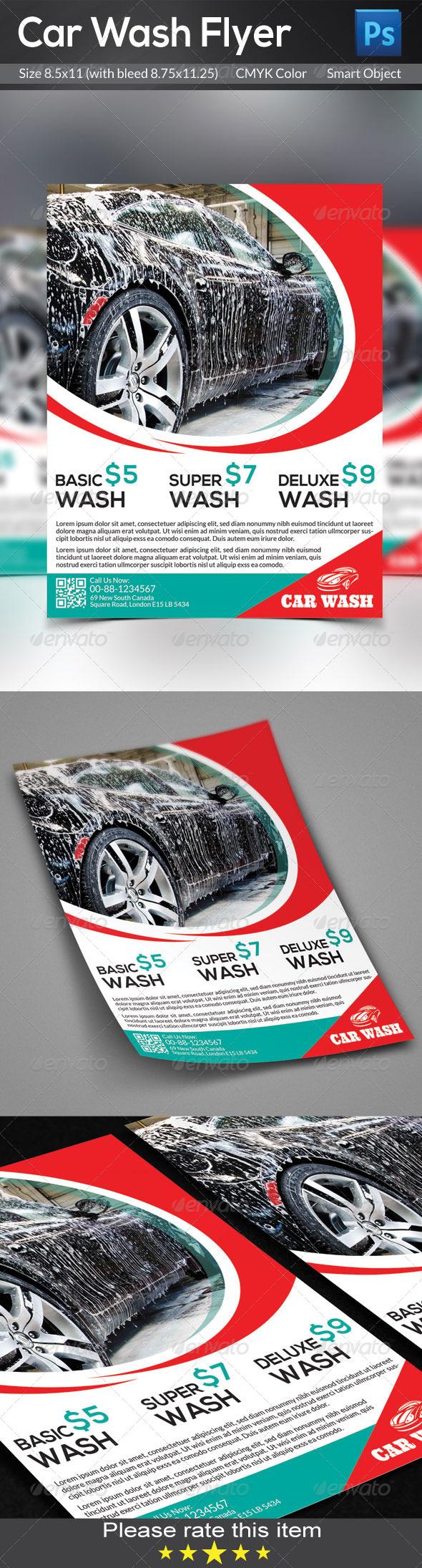 GraphicRiver Car Wash Flyer 7722005