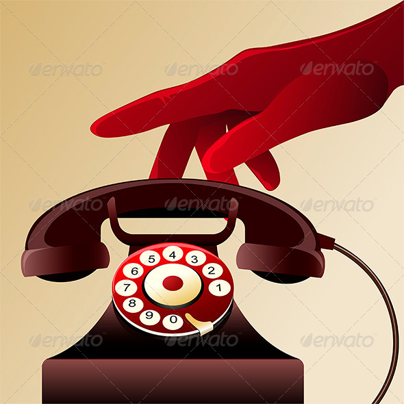 GraphicRiver Retro Telephon 7722053