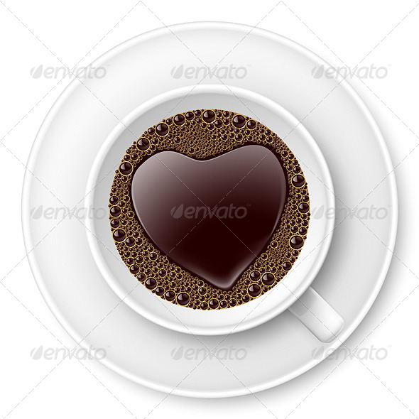 GraphicRiver Coffee Cup with Heart 7722189