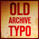 Old archive kinetic typographic - VideoHive Item for Sale