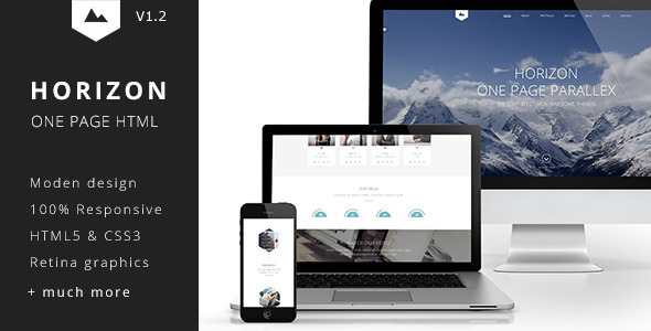 Horizon - One Page HTML5 Template - Creative Site Templates