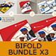 3x Brochure Bifold - Bundle - GraphicRiver Item for Sale