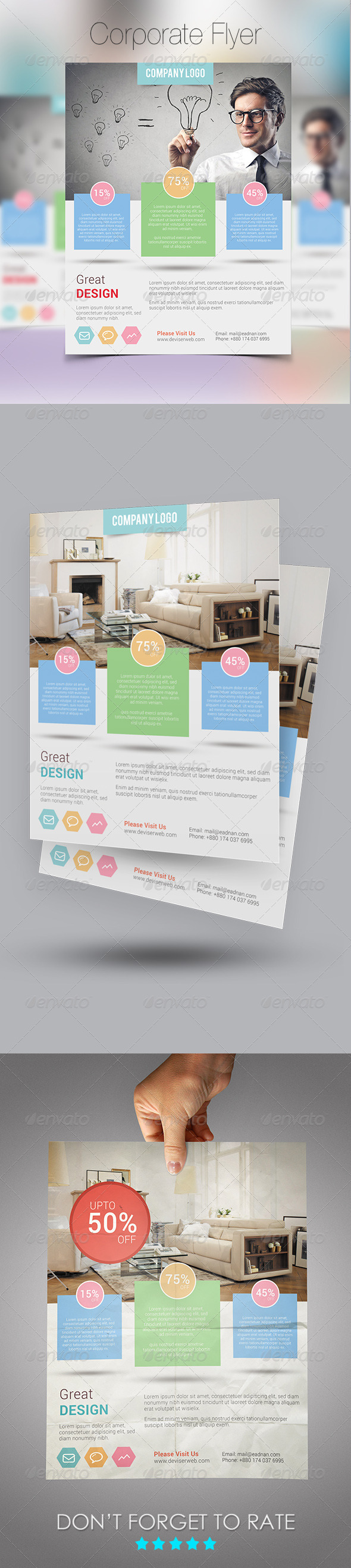 GraphicRiver Creative Modern Flyer Template 7722594