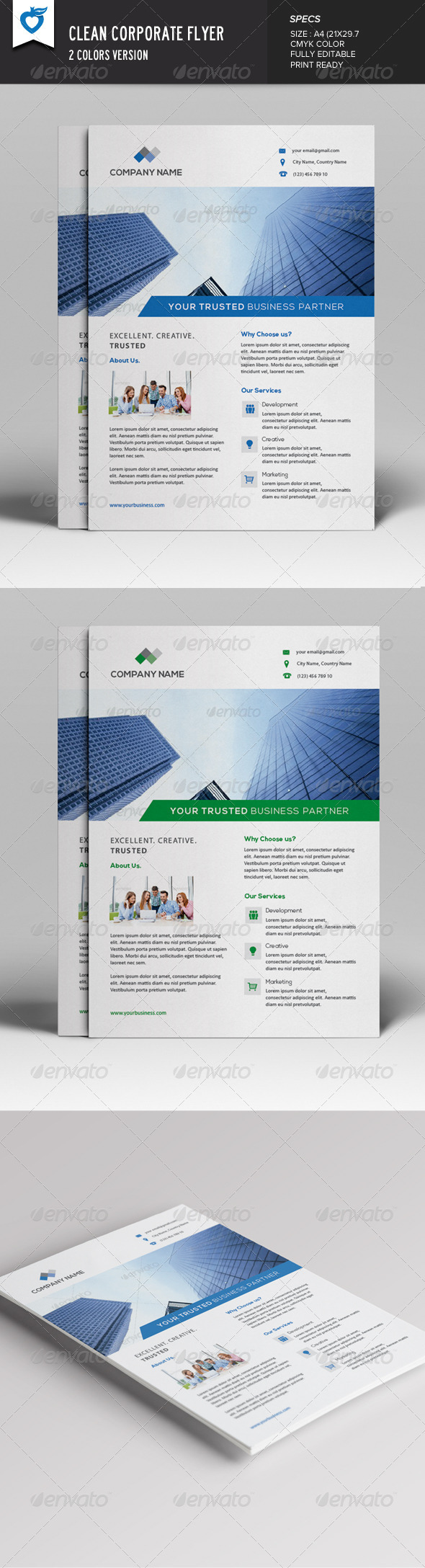 GraphicRiver Clean Corporate Flyer 7696159