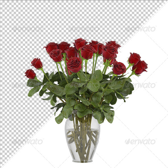 GraphicRiver Flowers Red Rose 7722989