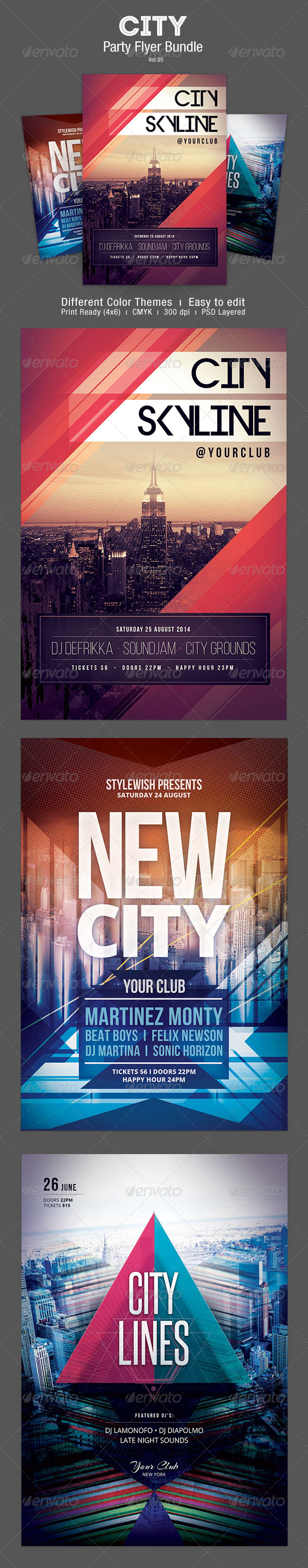 City Party Flyer Bundle Vol.5 - Clubs & Parties Events
