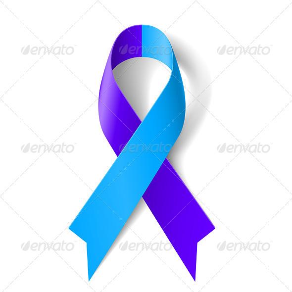 GraphicRiver Blue and Purple Ribbon 7723351