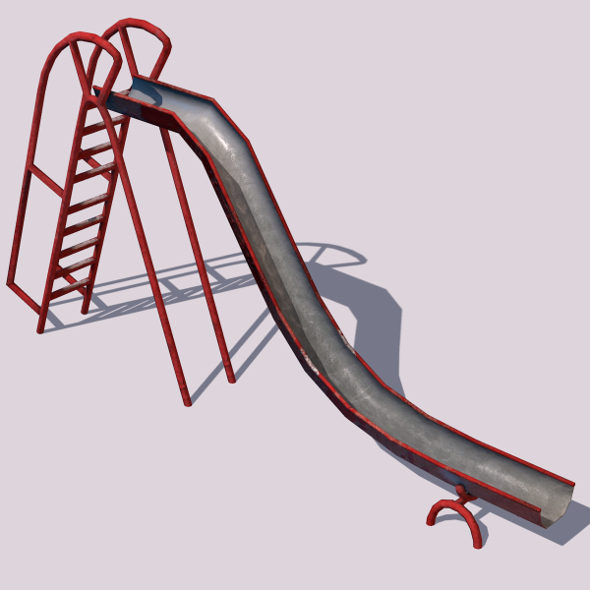 3DOcean Old Playground Slide 7723631