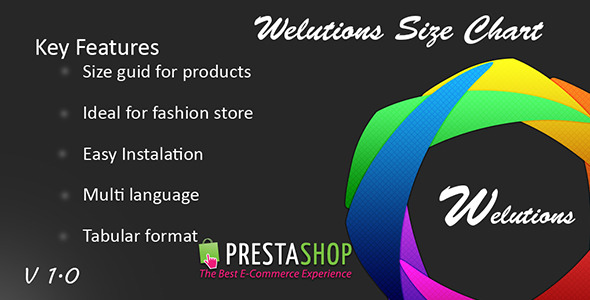 CodeCanyon Welutions Size Chart for PrestaShop 7723636