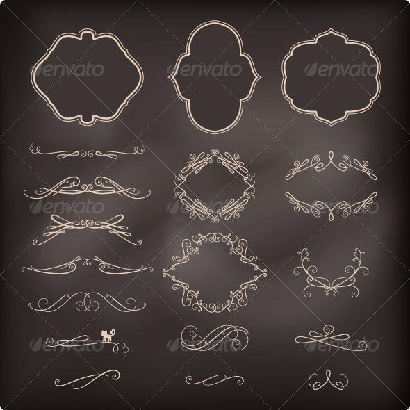 GraphicRiver Vintage Calligraphic Elements 7723651