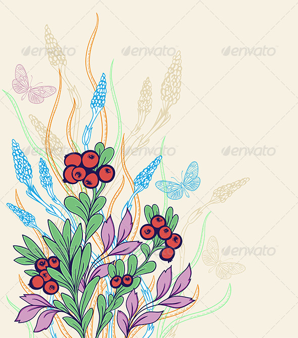 GraphicRiver Decorative Floral Background 7723663