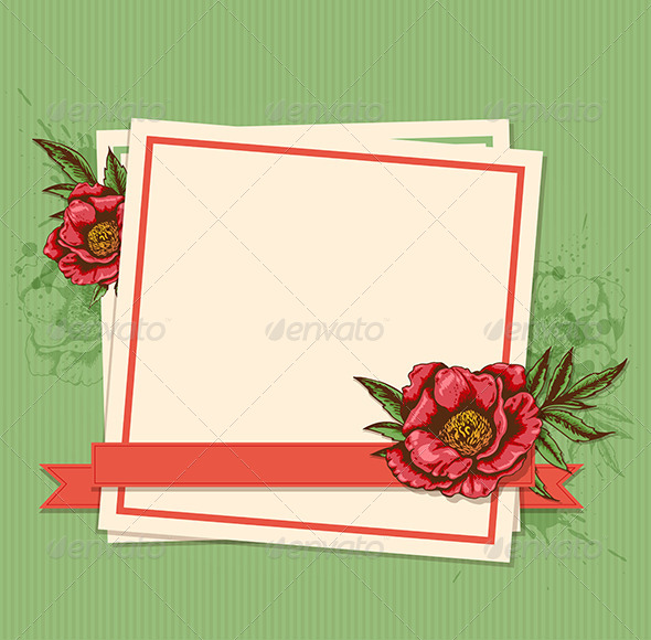 GraphicRiver Frame with Flowers 7723811