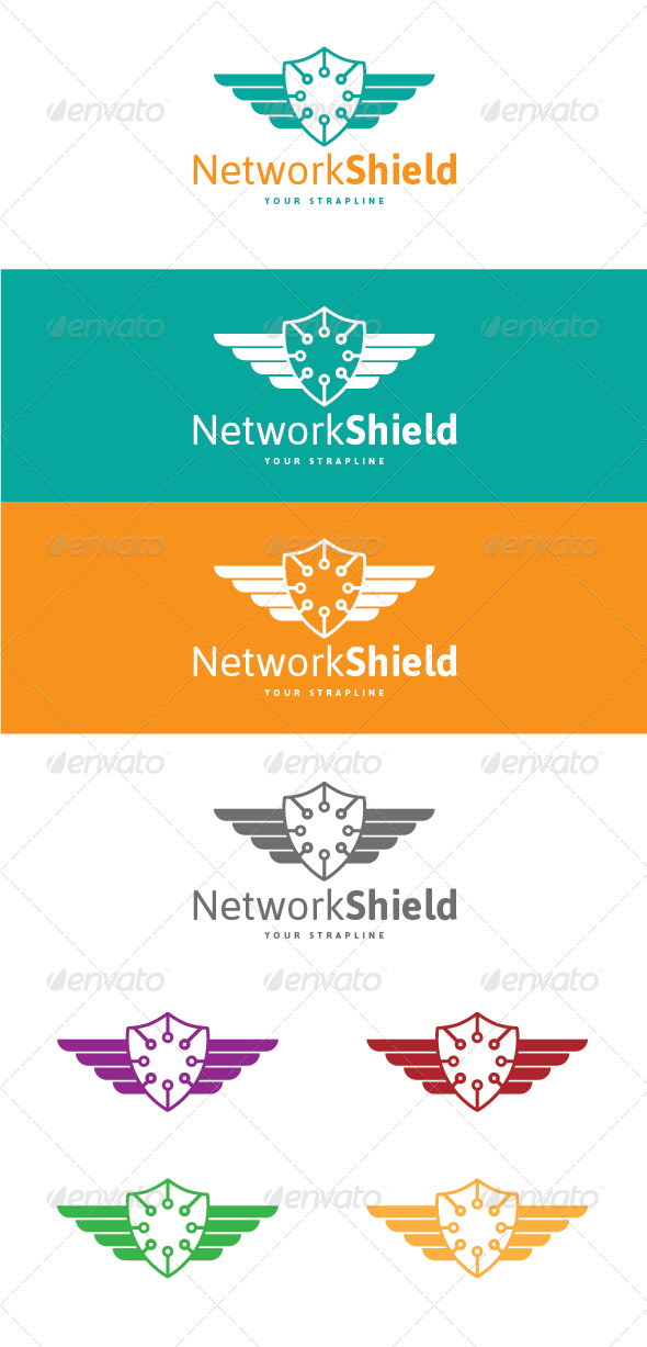 GraphicRiver Network Shield Logo 7723828