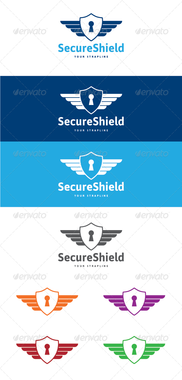 GraphicRiver Secure Shield Logo 7723874