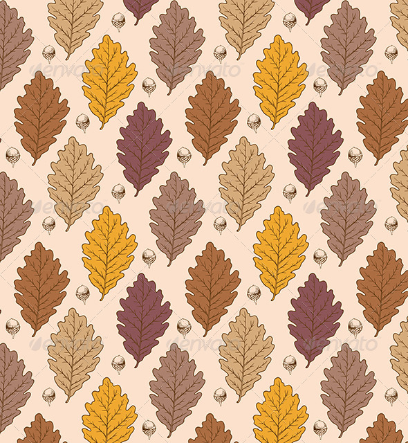 GraphicRiver Oak Leaves and Acorns 7723882