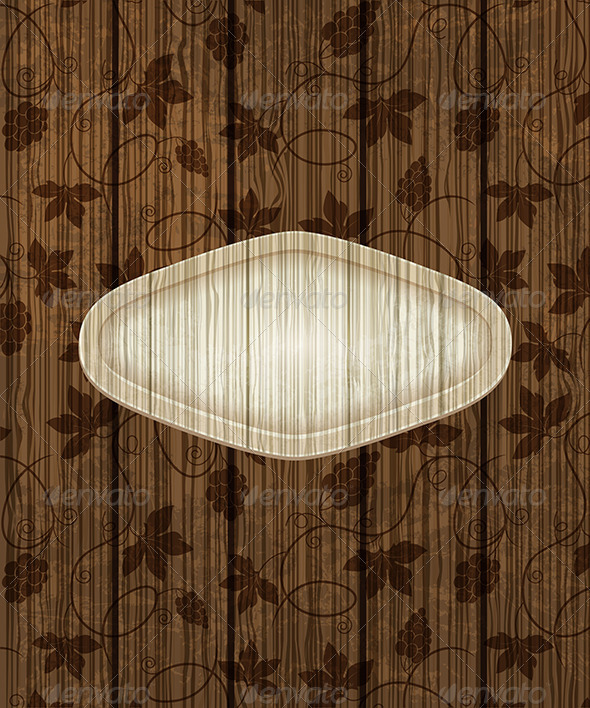 GraphicRiver Wooden Background with Grapes 7724102