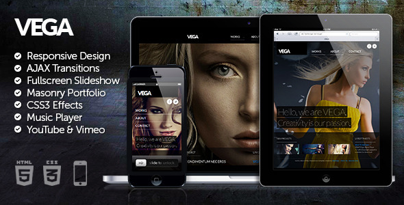 Vega HTML5 Responsive Template - Creative Site Templates