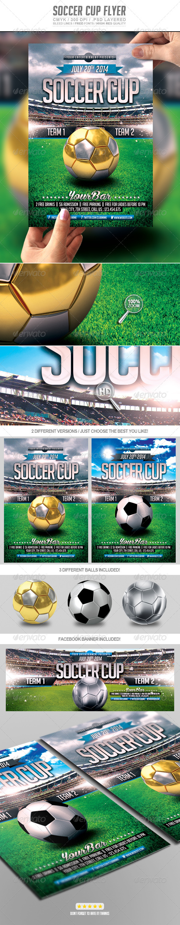 GraphicRiver Soccer Cup Flyer Template PSD 7724193