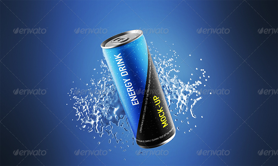 Energy Drink Can Mockup By Ayashi Graphicriver
