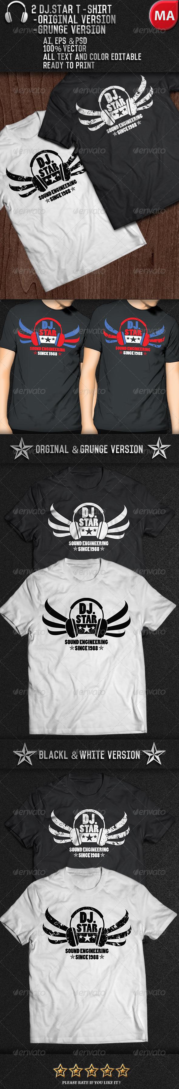 GraphicRiver DJ Music T-Shirt 7724411