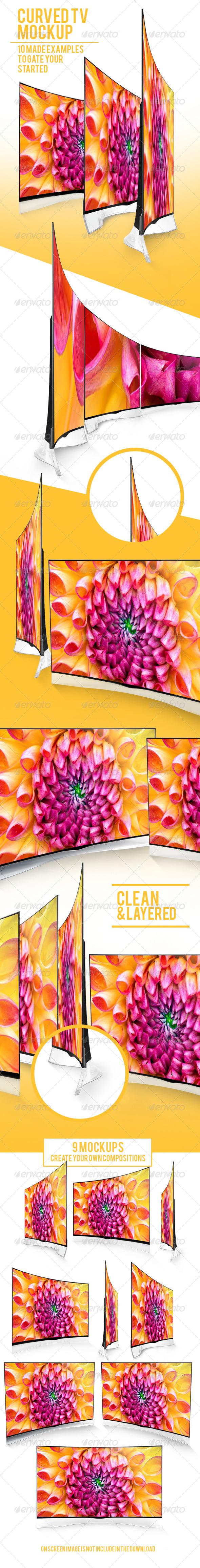 Curved TV Mockups Pack - TV Displays