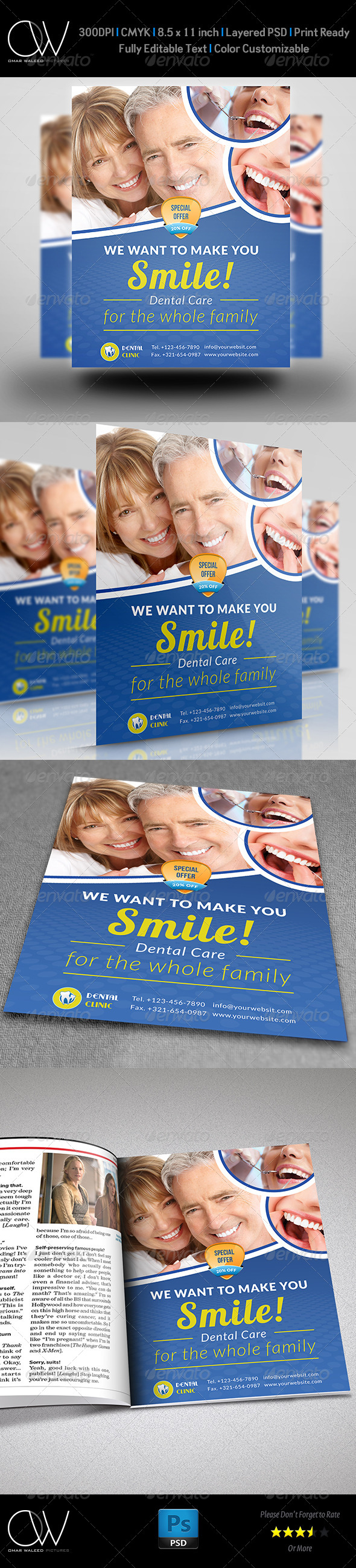 GraphicRiver Dental Clinic Flyer Template 7724532