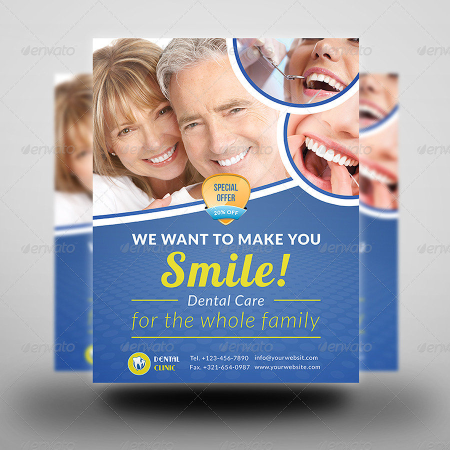 Dental Clinic Flyer Template by OWPictures | GraphicRiver