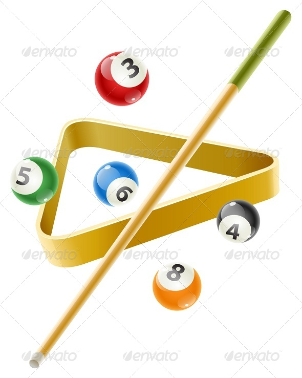 GraphicRiver Ball and Cue For Billiard Game 7724539