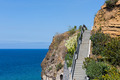 Cliffs with staircase at the coast of Madeira, Portugal - PhotoDune Item for Sale