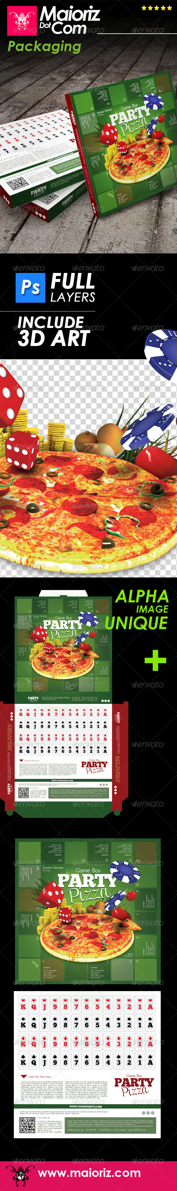 GraphicRiver Party Pizza Packaging 7724825