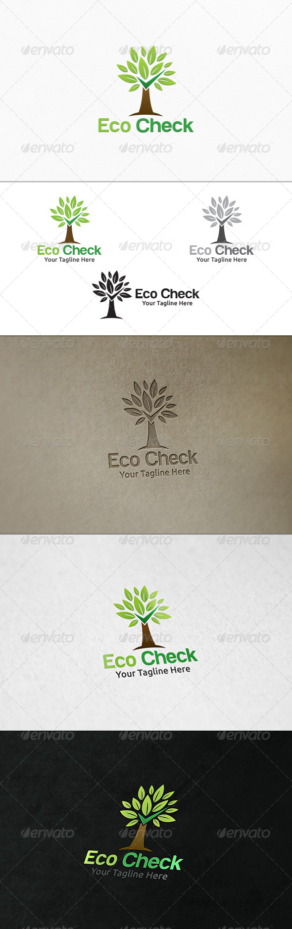 GraphicRiver Eco Check Logo Template 7724841