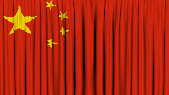 China Curtain Open