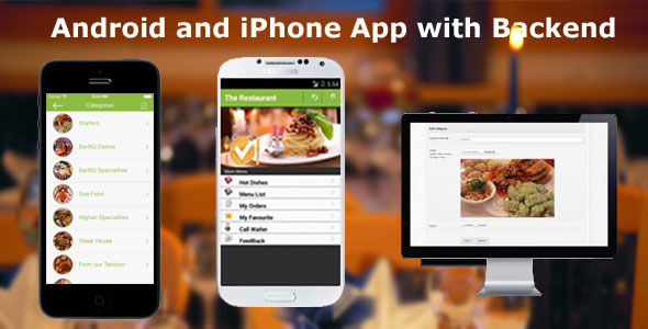 CodeCanyon Restaurant Order Mobile App Android & iOS 7668912