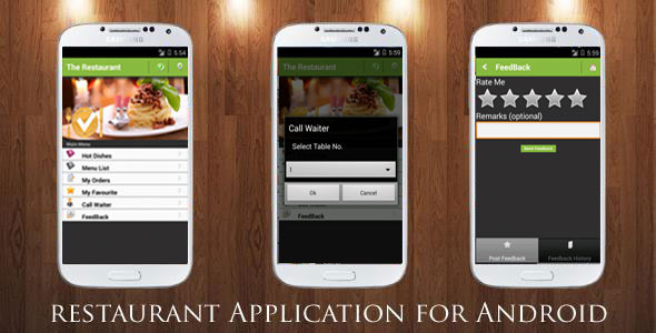 Restaurant order mobile app android ios by