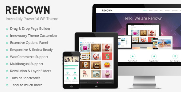 Renown - Responsive Multi-Purpose Theme