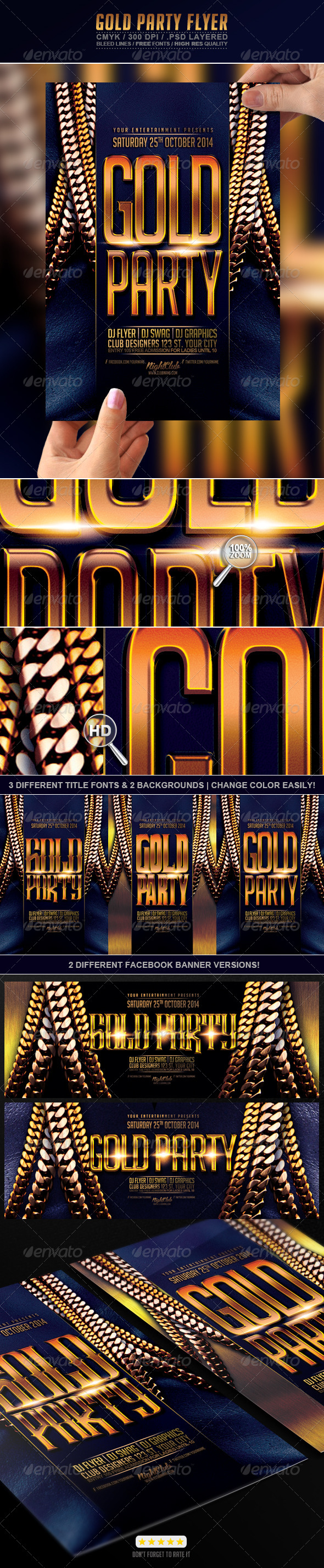 GraphicRiver Gold Party Flyer 7725067