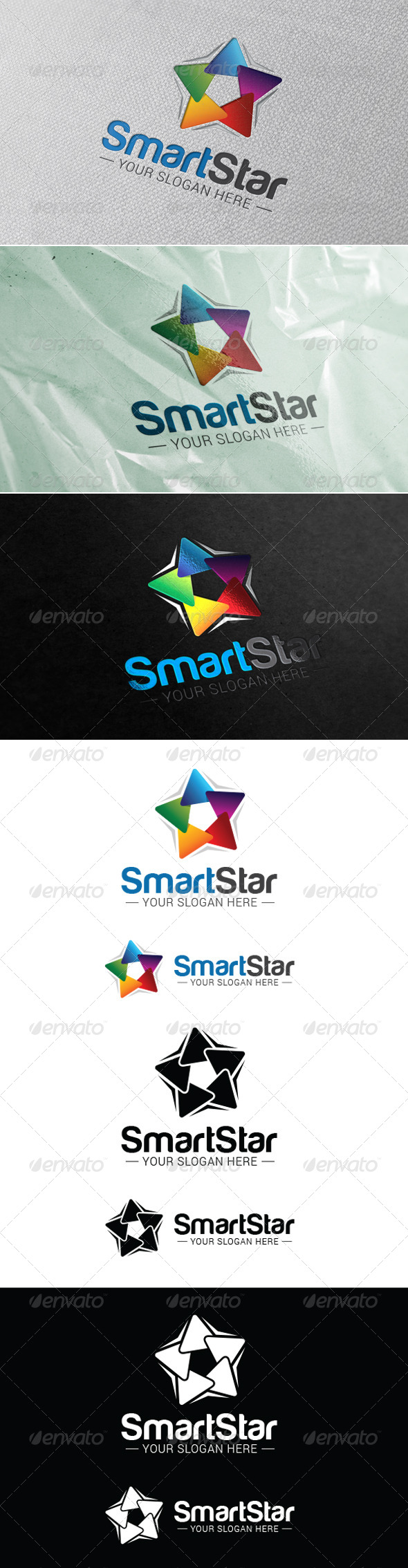 GraphicRiver Smart Star Logo Template 7725073