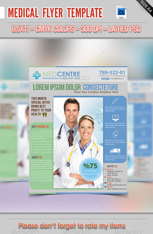 GraphicRiver Medical Flyer Template 7696195