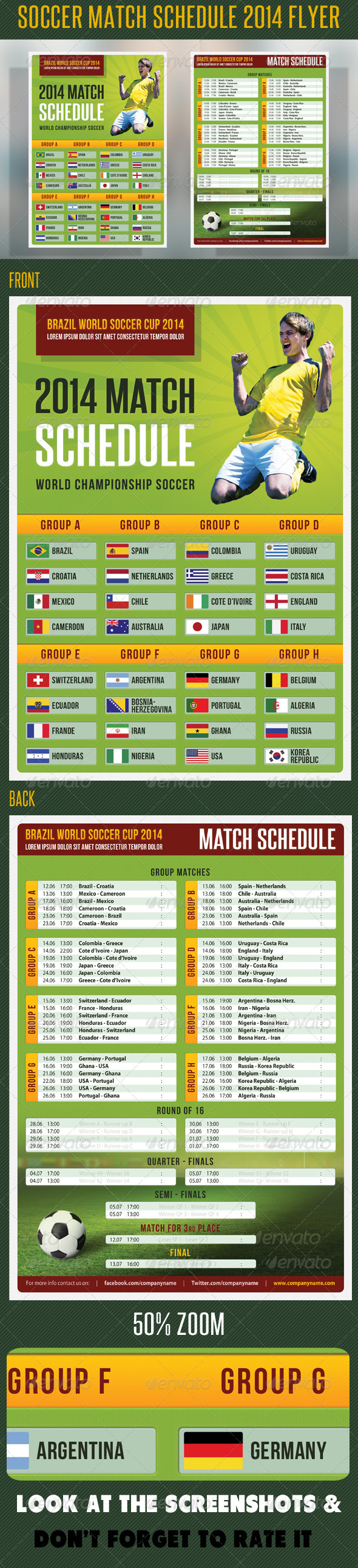 Soccer Match Schedule 2014 Flyer - Sports Events