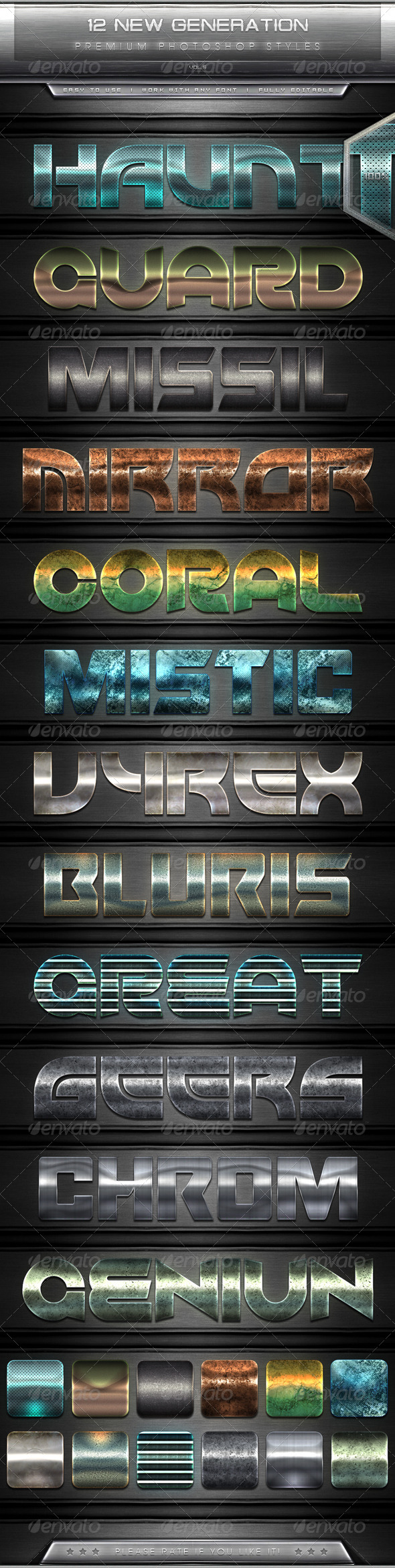 GraphicRiver 12 New Generation Text Effect Styles Vol.5 7725933