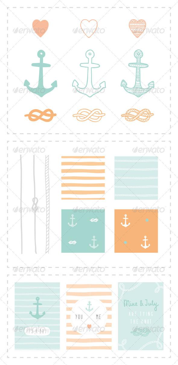 GraphicRiver Marine Anchor Set 7726066