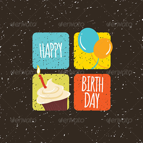 GraphicRiver Happy Birthday Four Squares 7726608
