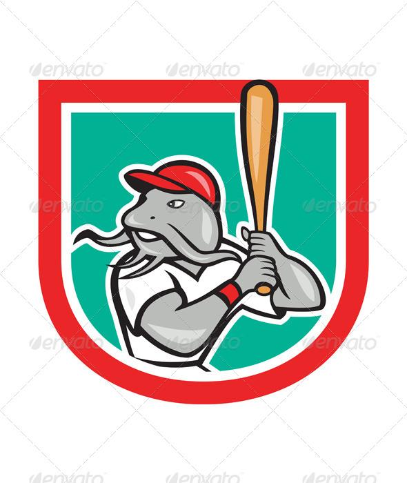 GraphicRiver Catfish Baseball Shield 7727320