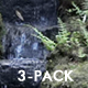 Japanese Garden Pond, Waterfall, Plants (3-pack) - VideoHive Item for Sale
