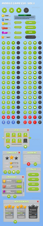 GraphicRiver Mobile Game Gui Vol 3 7728265