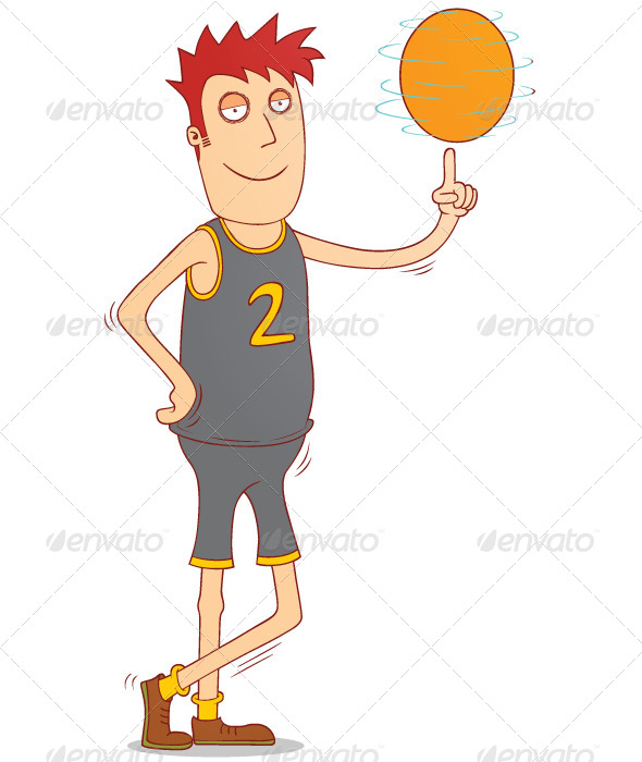 GraphicRiver Spinning a Basketball 7728343