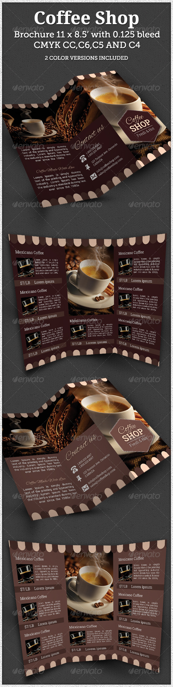GraphicRiver Coffee Brochure Indesign Template 7728348