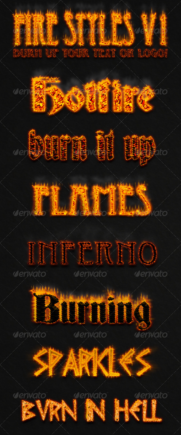 GraphicRiver Fire Text Styles v.1 7728597